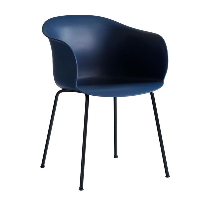 &Tradition JH28 Elefy Chair , Midnight Blue - Black