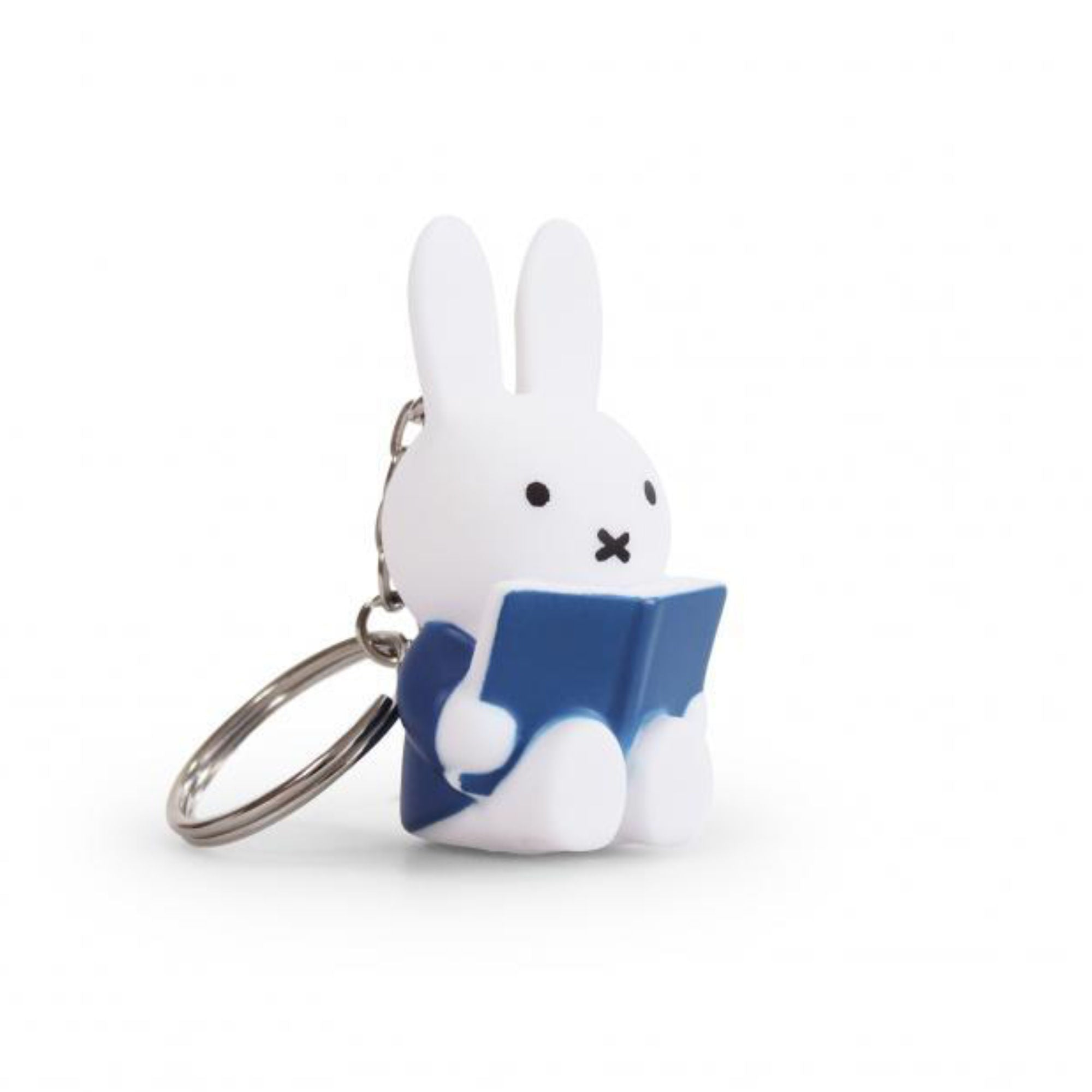 Miffy Reading Keychain , Blue
