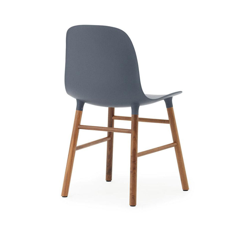 Normann Copenhagen Form Chair , Walnut/Blue