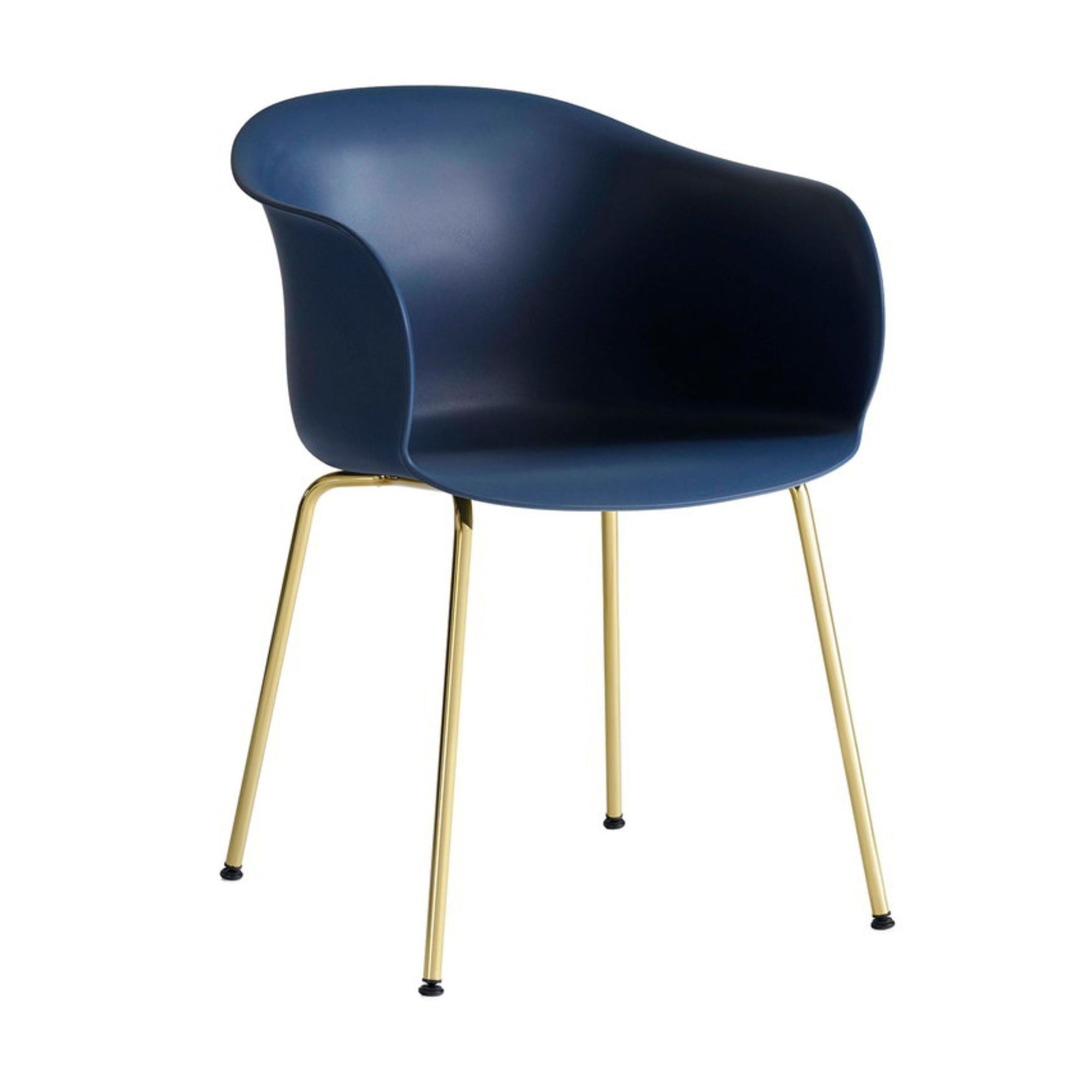 &Tradition JH28 Elefy Chair , Midnight Blue - Brass