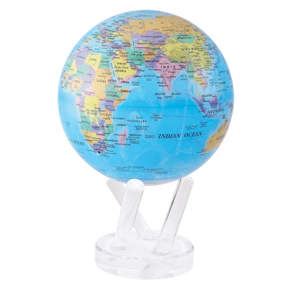 MOVA Rotating Globe , Blue Political