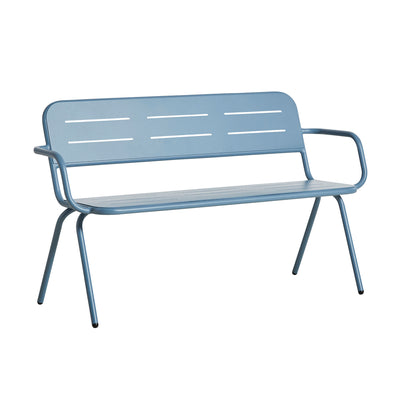 Woud Ray Bench w. Armrest , Blue