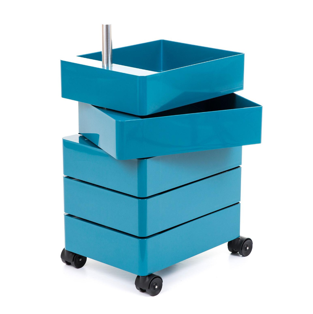 Magis 360° Container by Konstantin Grcic 5 Drawers Blue