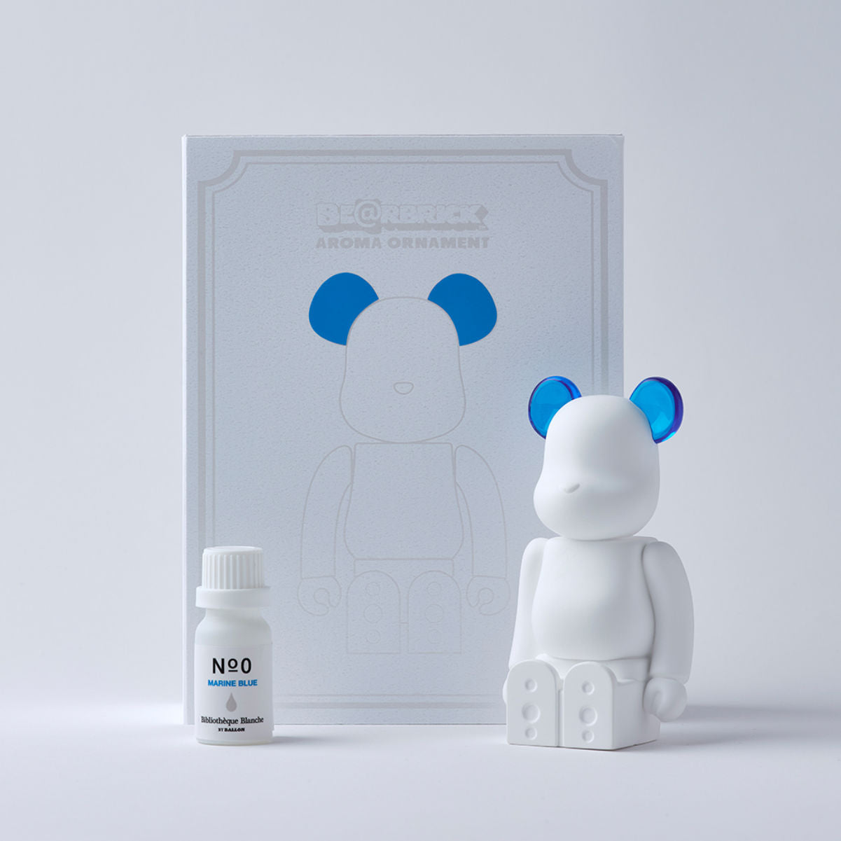Bibliotheque Blanche x Medicom BE@RBRICK Aroma Ornament #0 blue