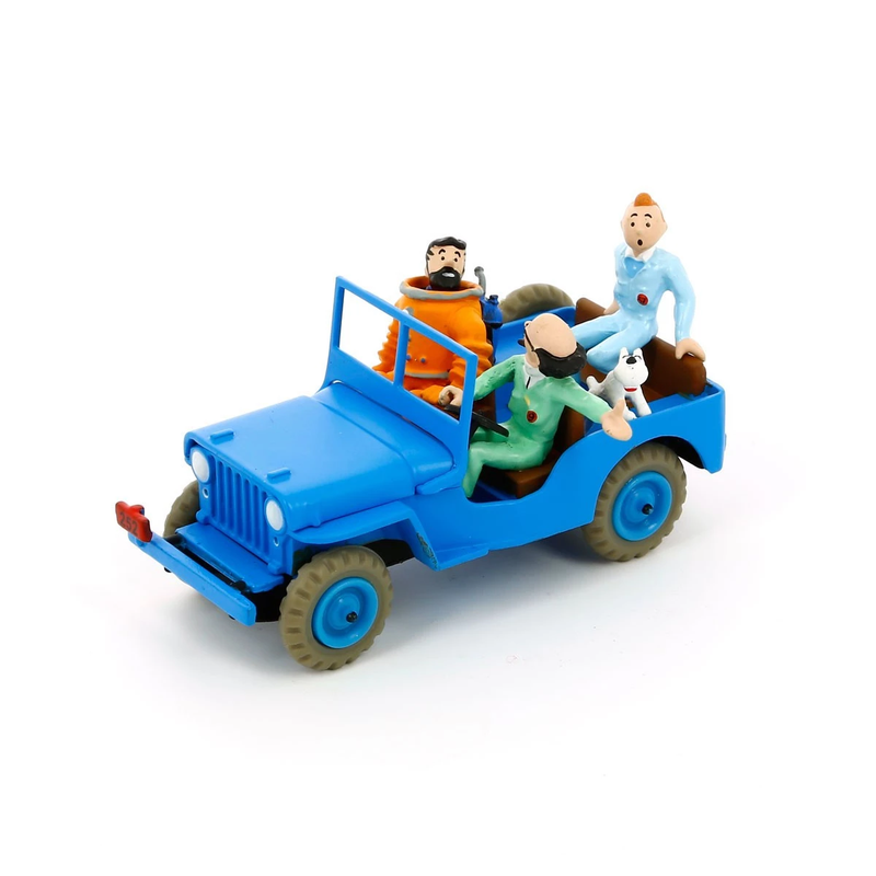 Tintin Destination Moon Blue Jeep Figure