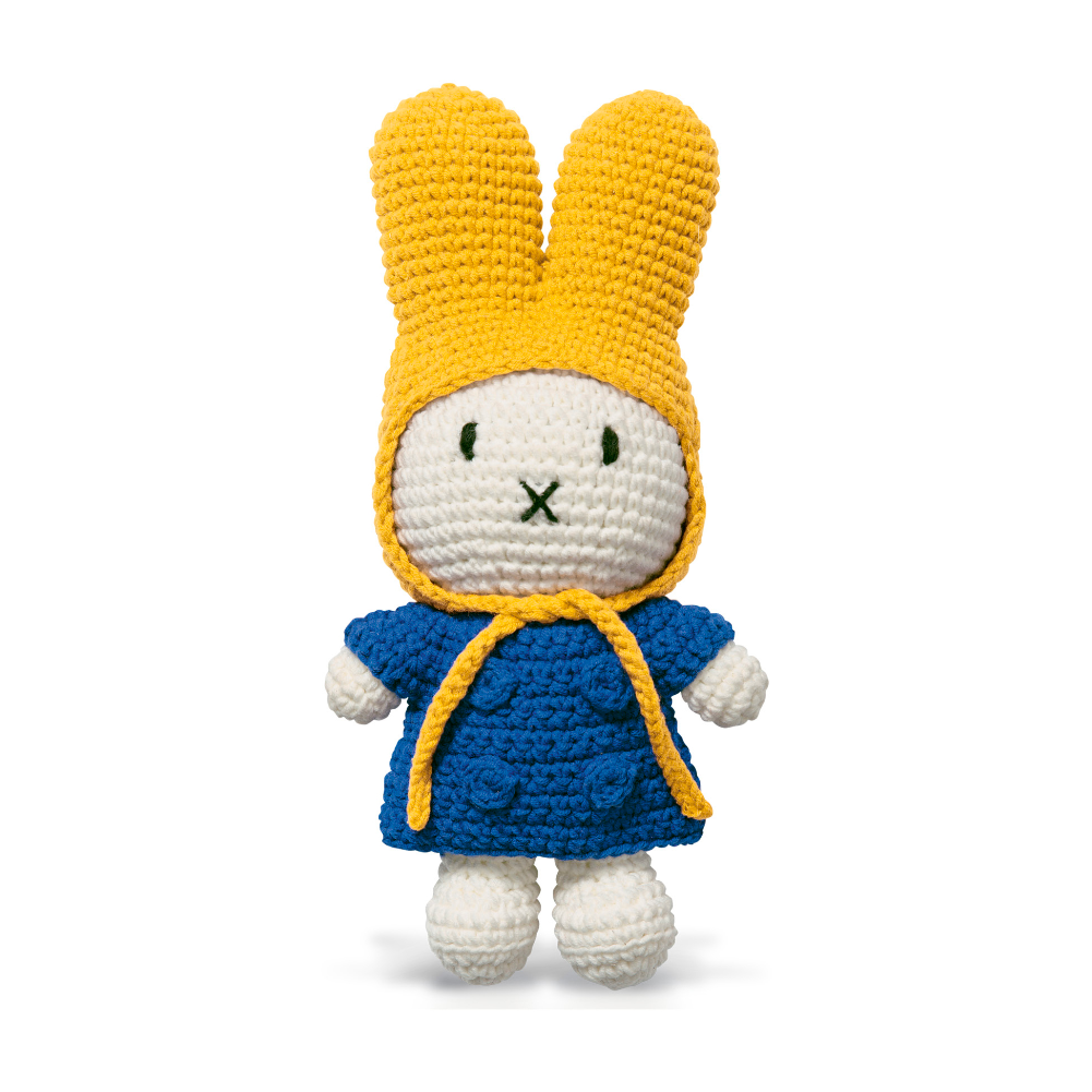Just Dutch Miffy & Her Blue Dress + Yellow Hat
