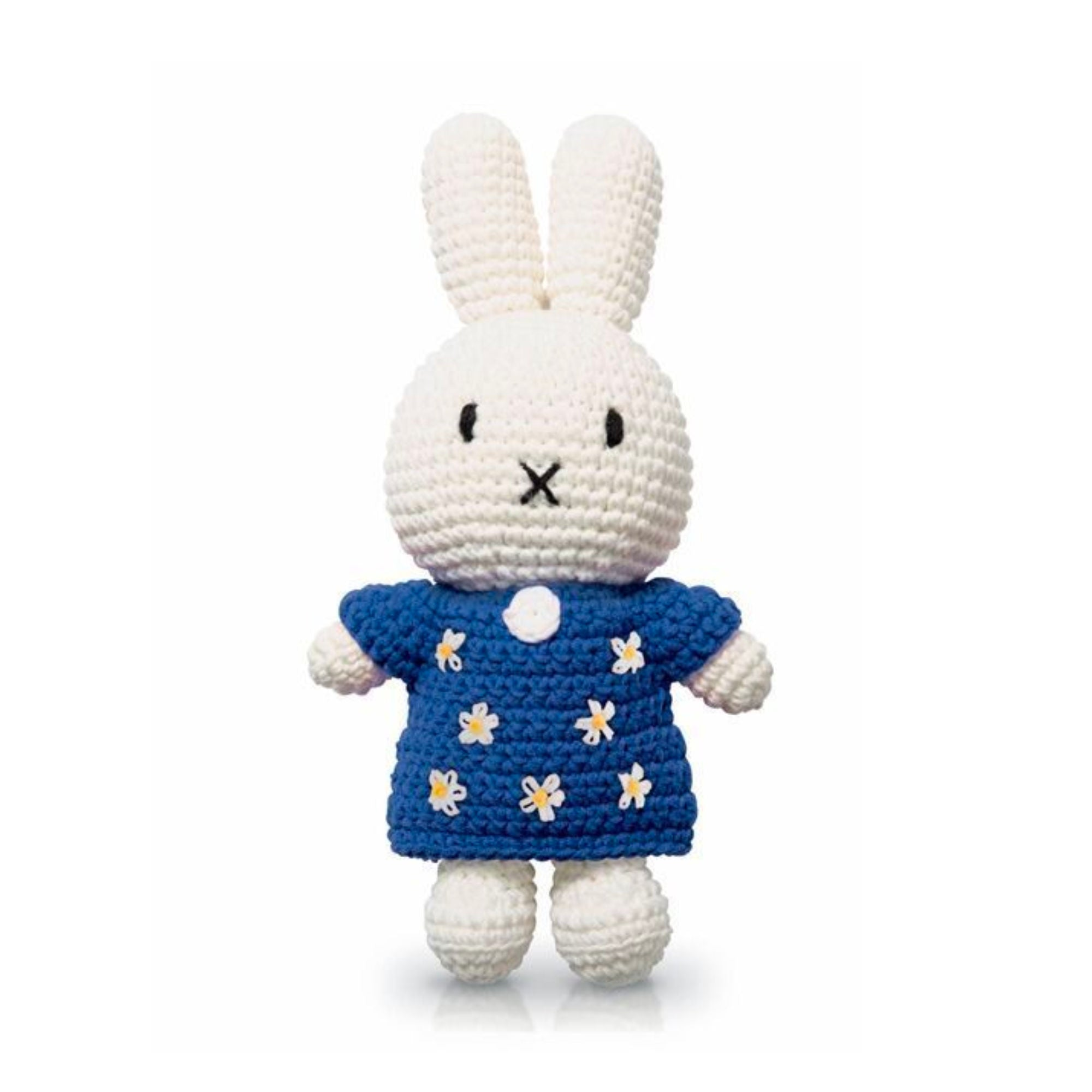 Just Dutch handmade doll, Miffy and her blue flower dress