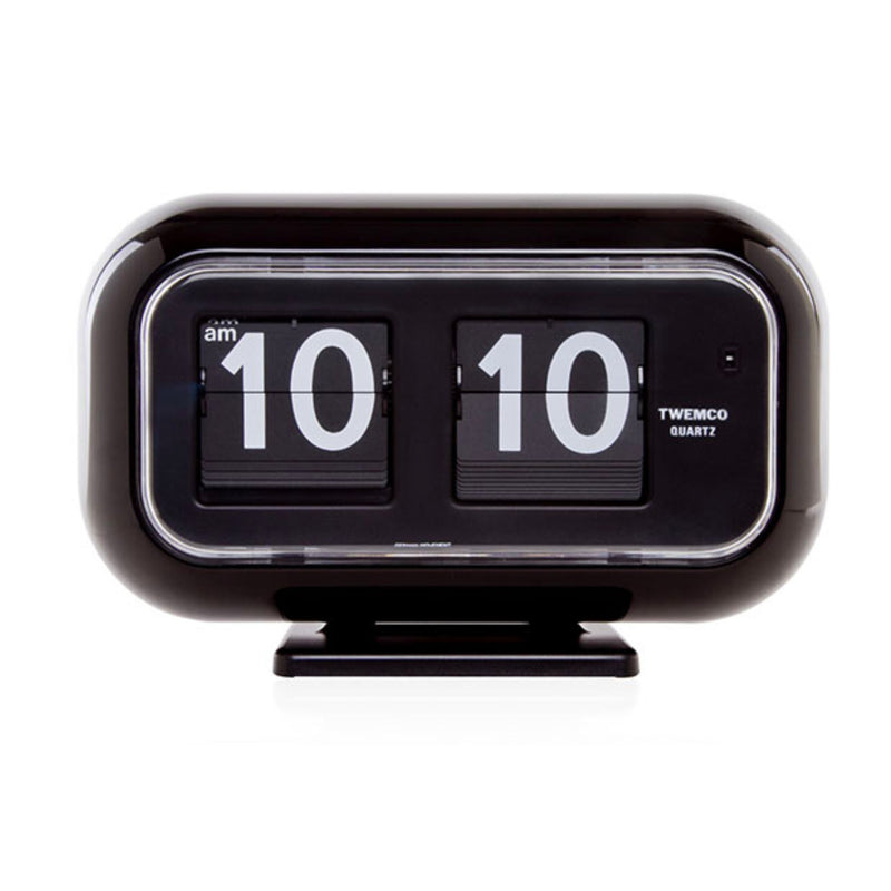 Twemco QT-35 Table/Wall Flip Clock, Black