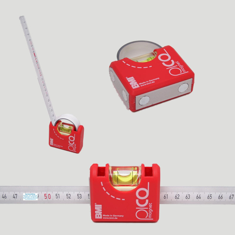 BMI Pico Rule and Level all in one Pocket Tape 1m