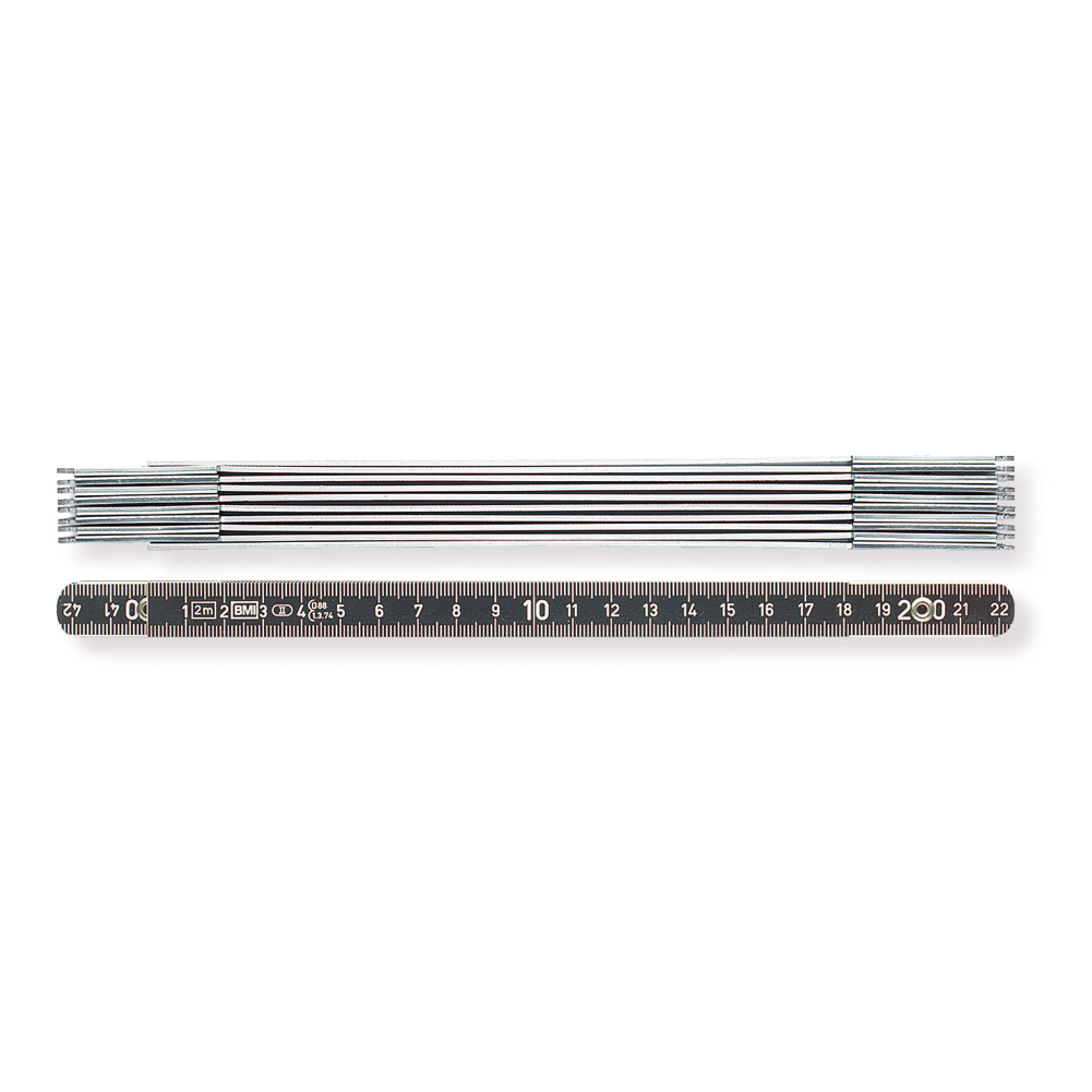 BMI 961 folding ruler 2 metres, aluminium