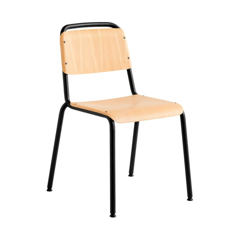 HAY Halftime chair, black, matt lacquered oak