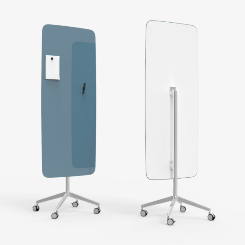 Lintex Flow Mobile Glassboard on a Polished Stand , Bold 330