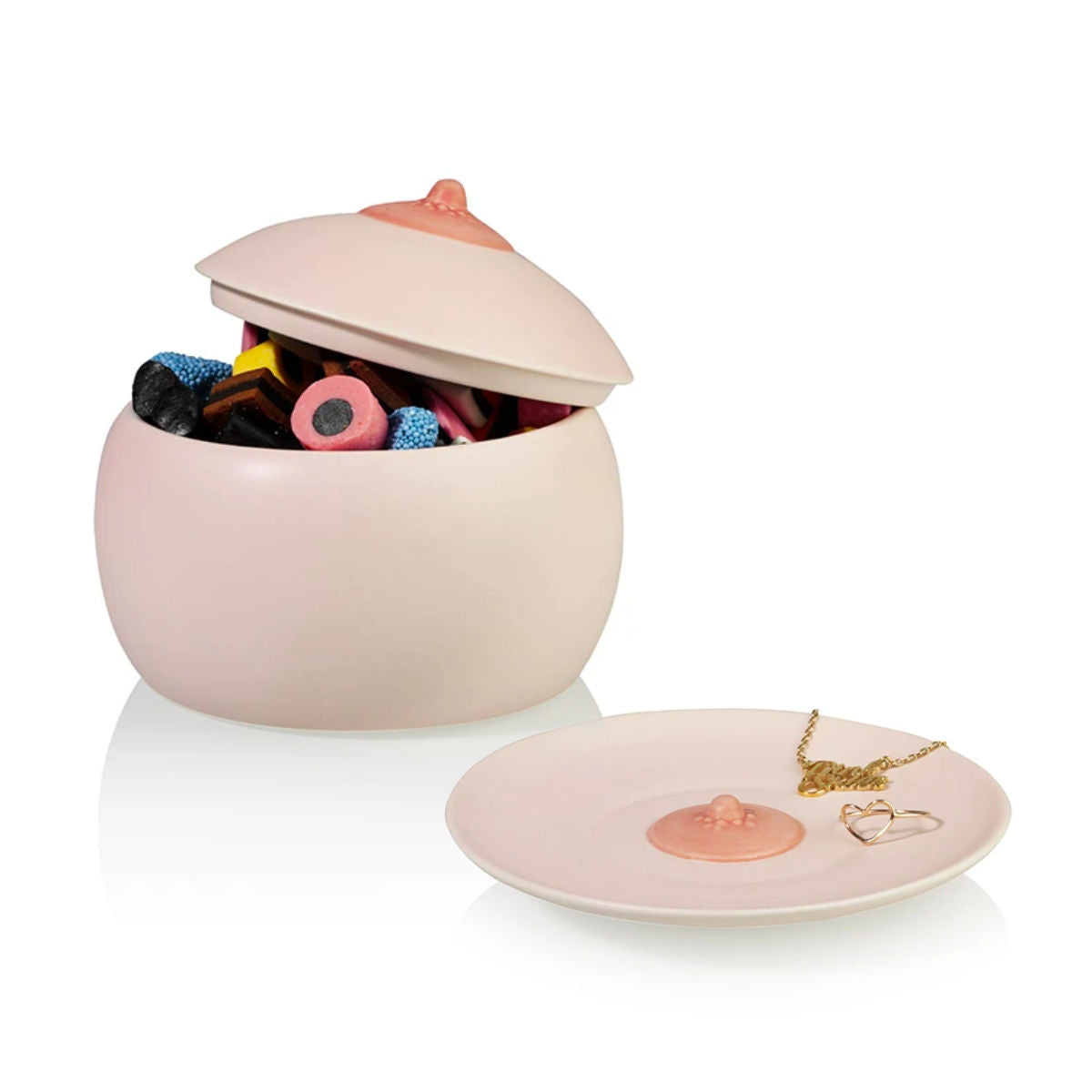 Bitten Design Boob pot & dish set