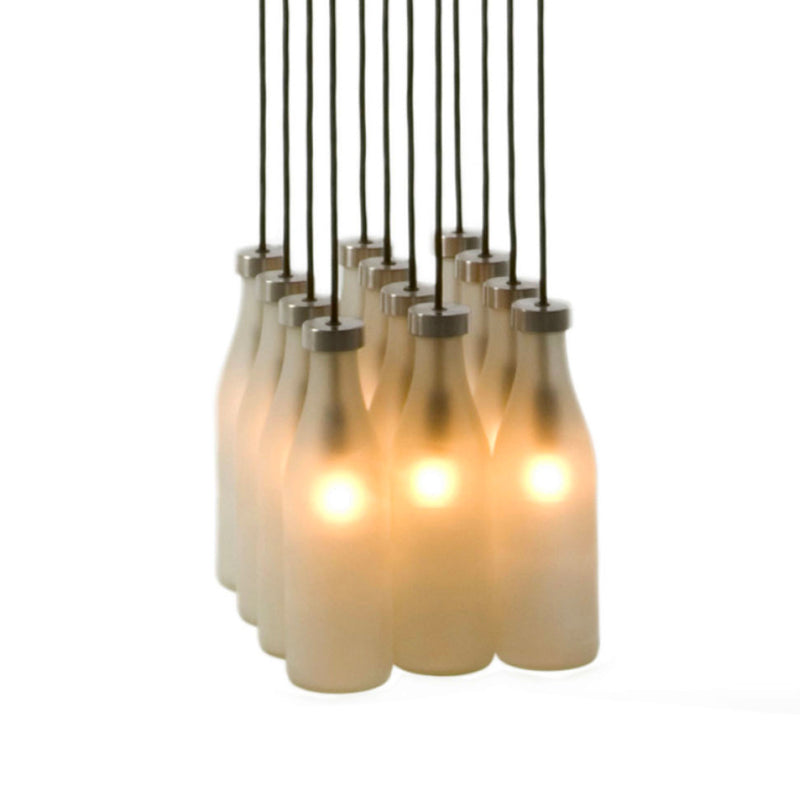 Droog Milk Bottle Lamp 12pcs