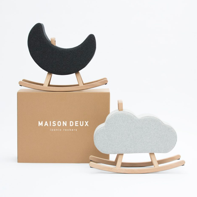 Maison Deux Iconic Moon rocker white