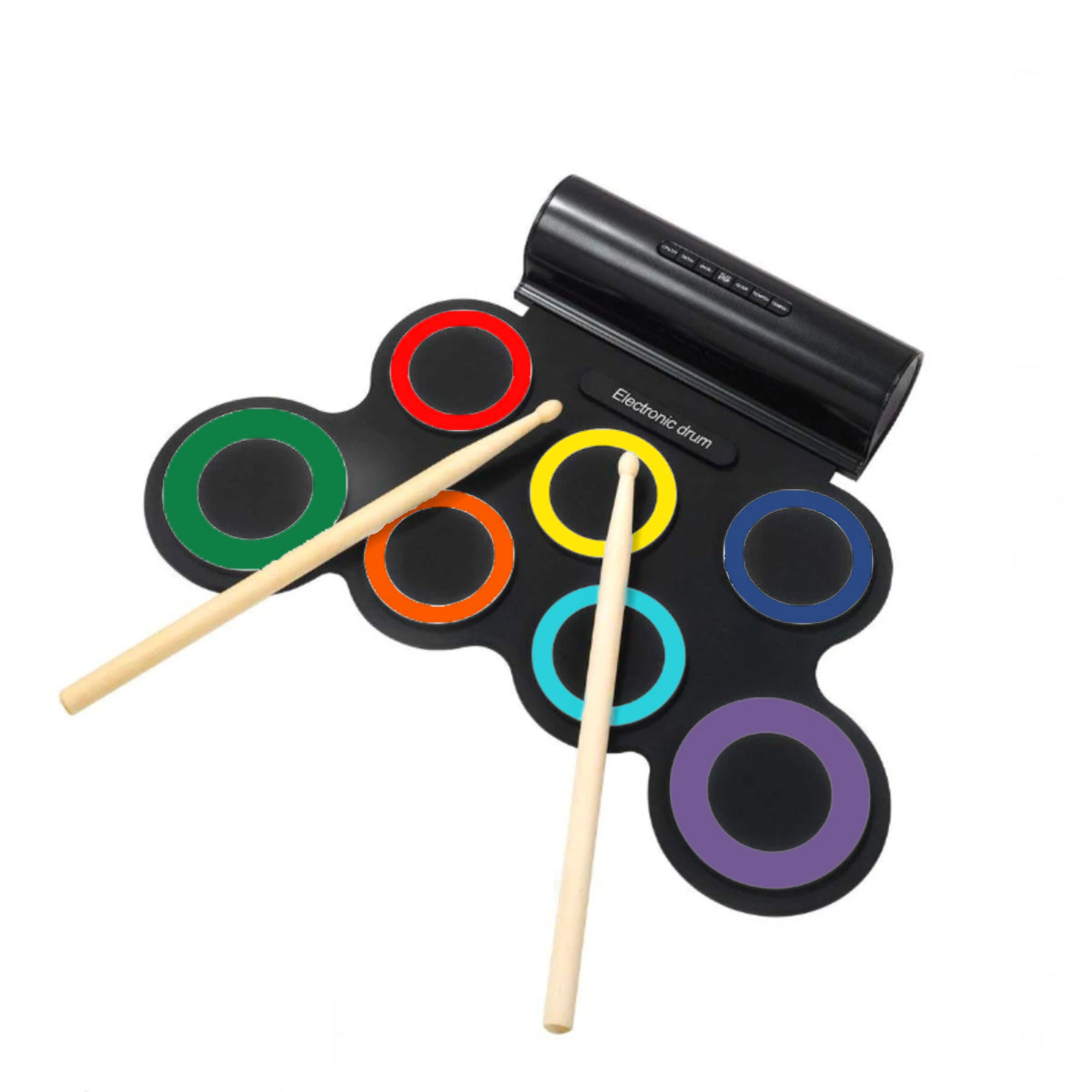Portable Roll-Up Drum , Rainbow