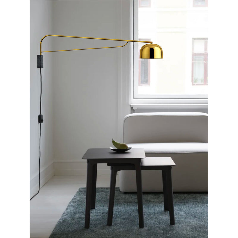 Normann Copenhagen Grant Wall Lamp 111cm , Brass