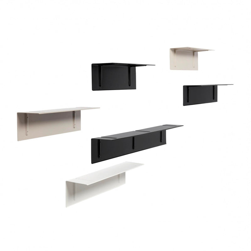 Hay Brackets Incl. Wall Shelf L80 , Black