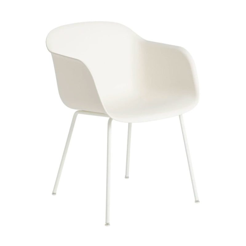 Muuto Tube Base Fiber armchair, white
