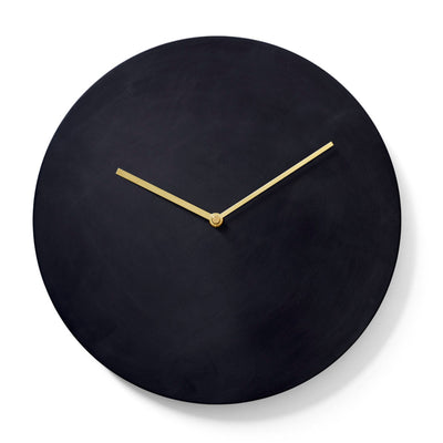 Menu Norm steel wall clock, bronzed brass