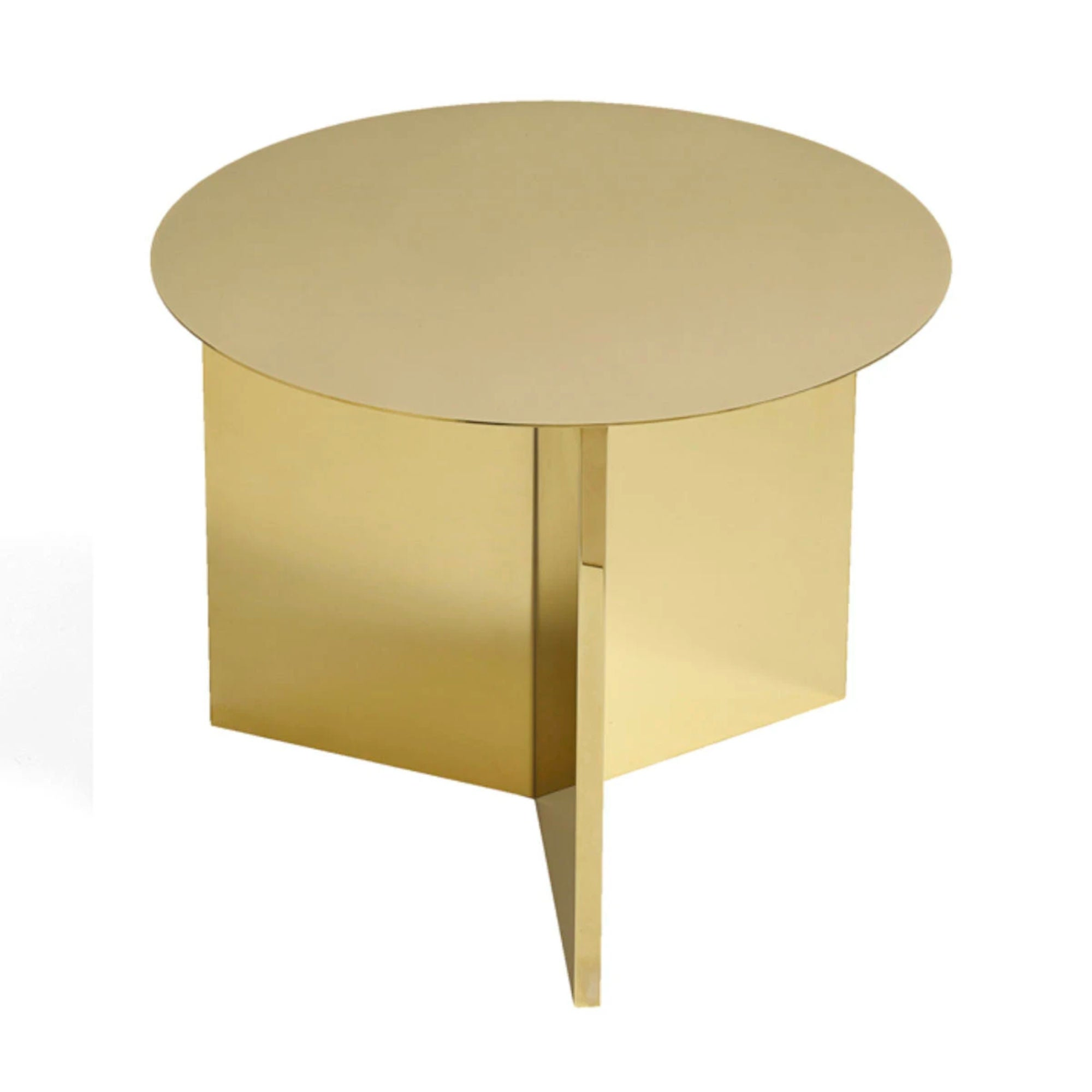 Hay Slit Coffee Table Round Φ45 , Brass