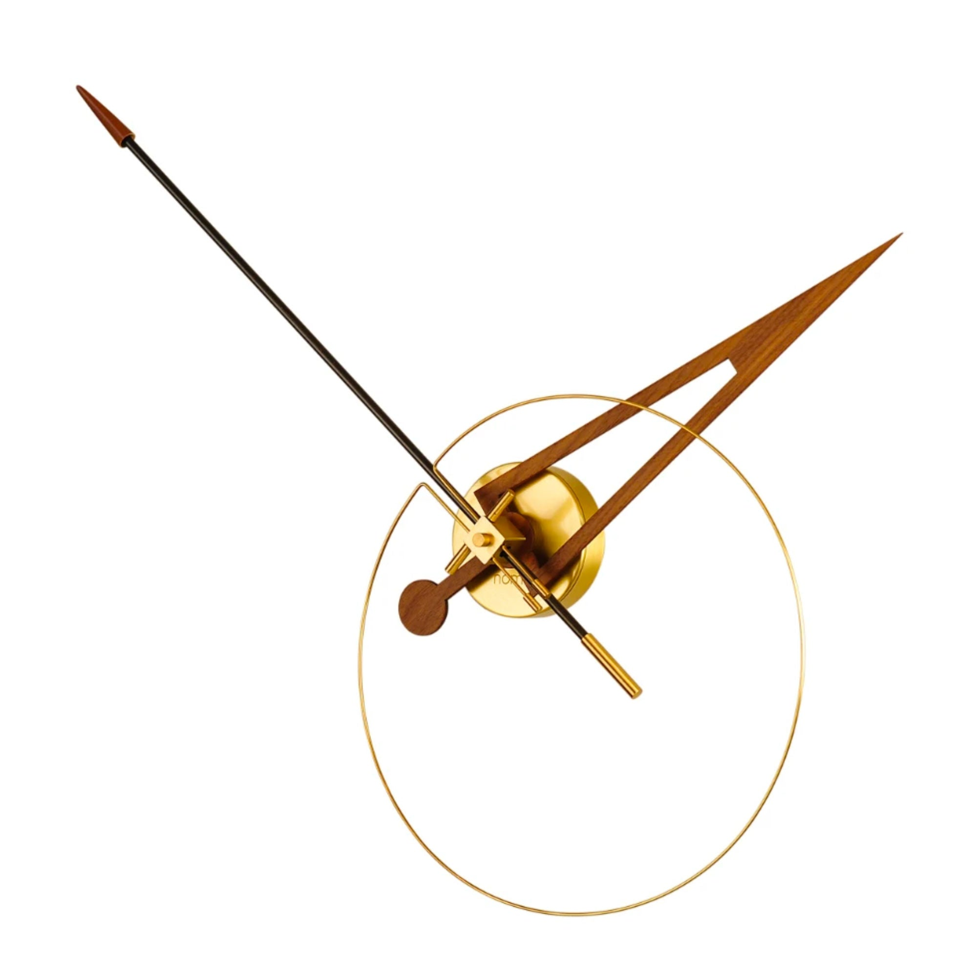 Nomon Cris N Wall Clock , Brass-Black-Walnut