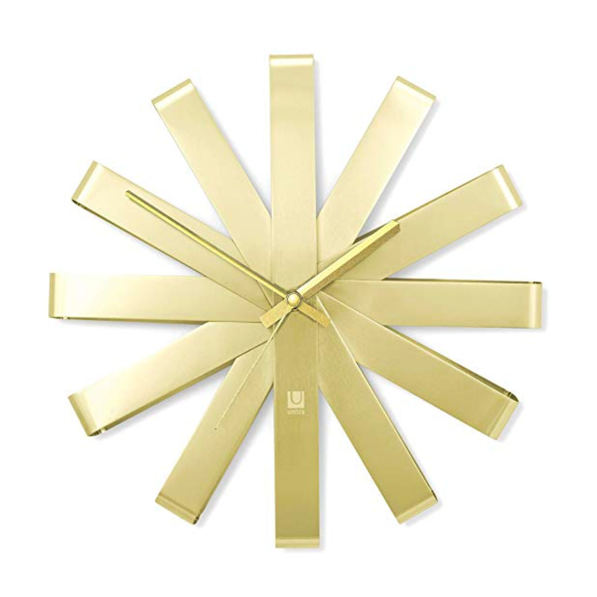 Umbra Ribbon wall clock, brass
