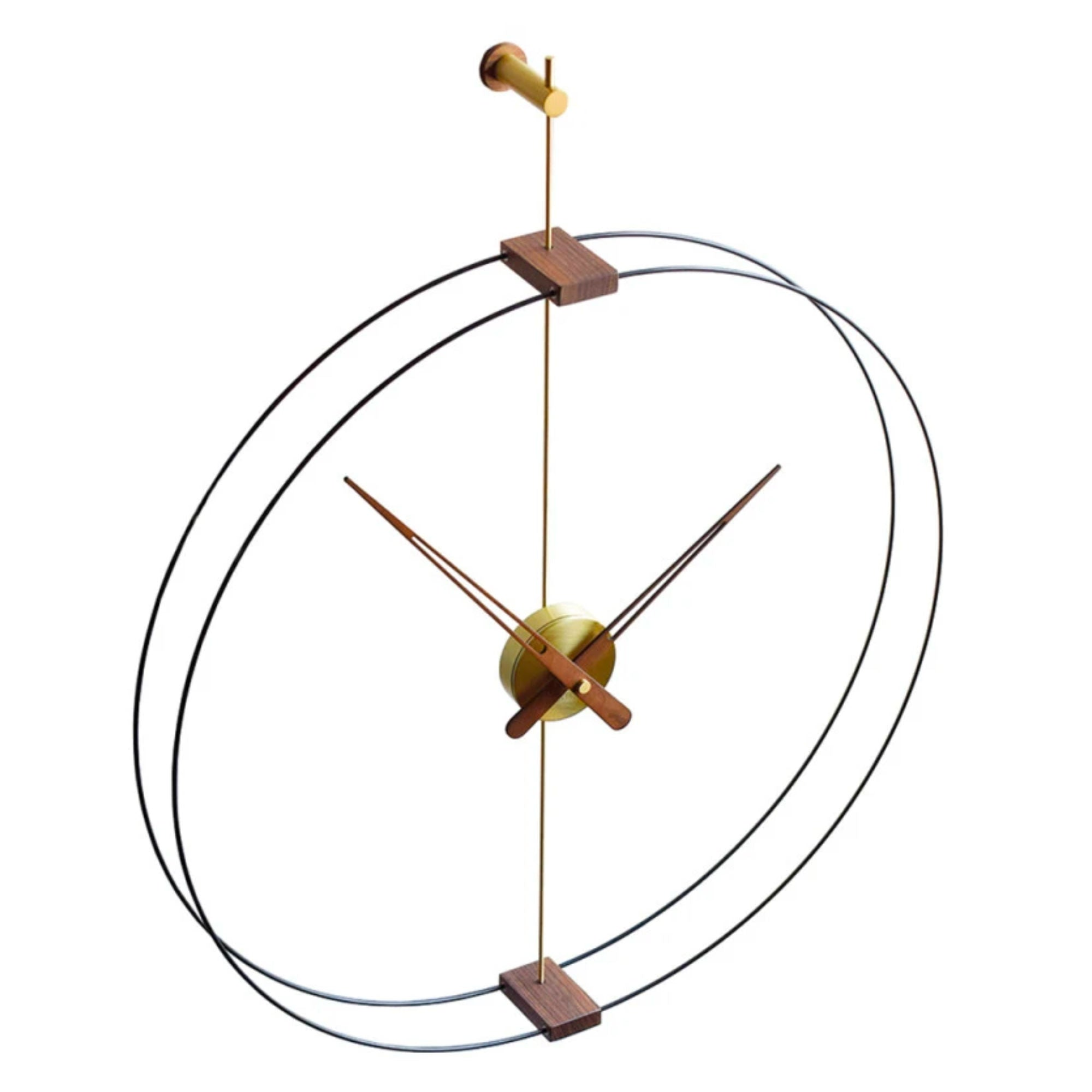 Nomon Mini Barcelona wall clock, brass - walnut