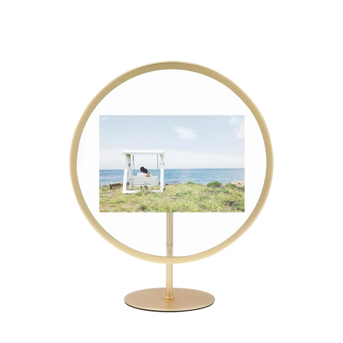 Umbra Infinity Floating Photo Display 4*6 , Matt Brass