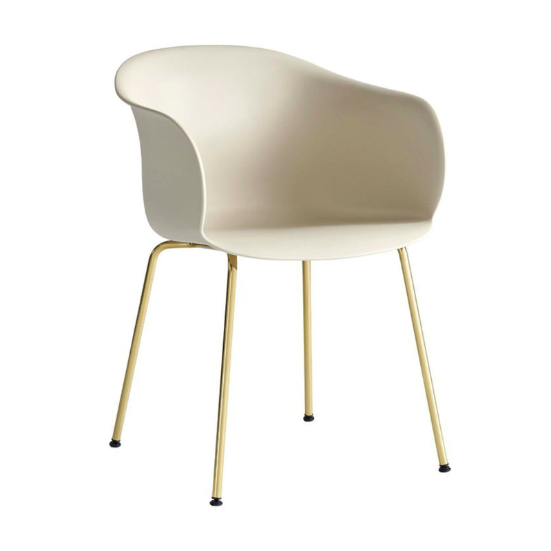 &Tradition JH28 Elefy Chair , Soft Beige - Brass