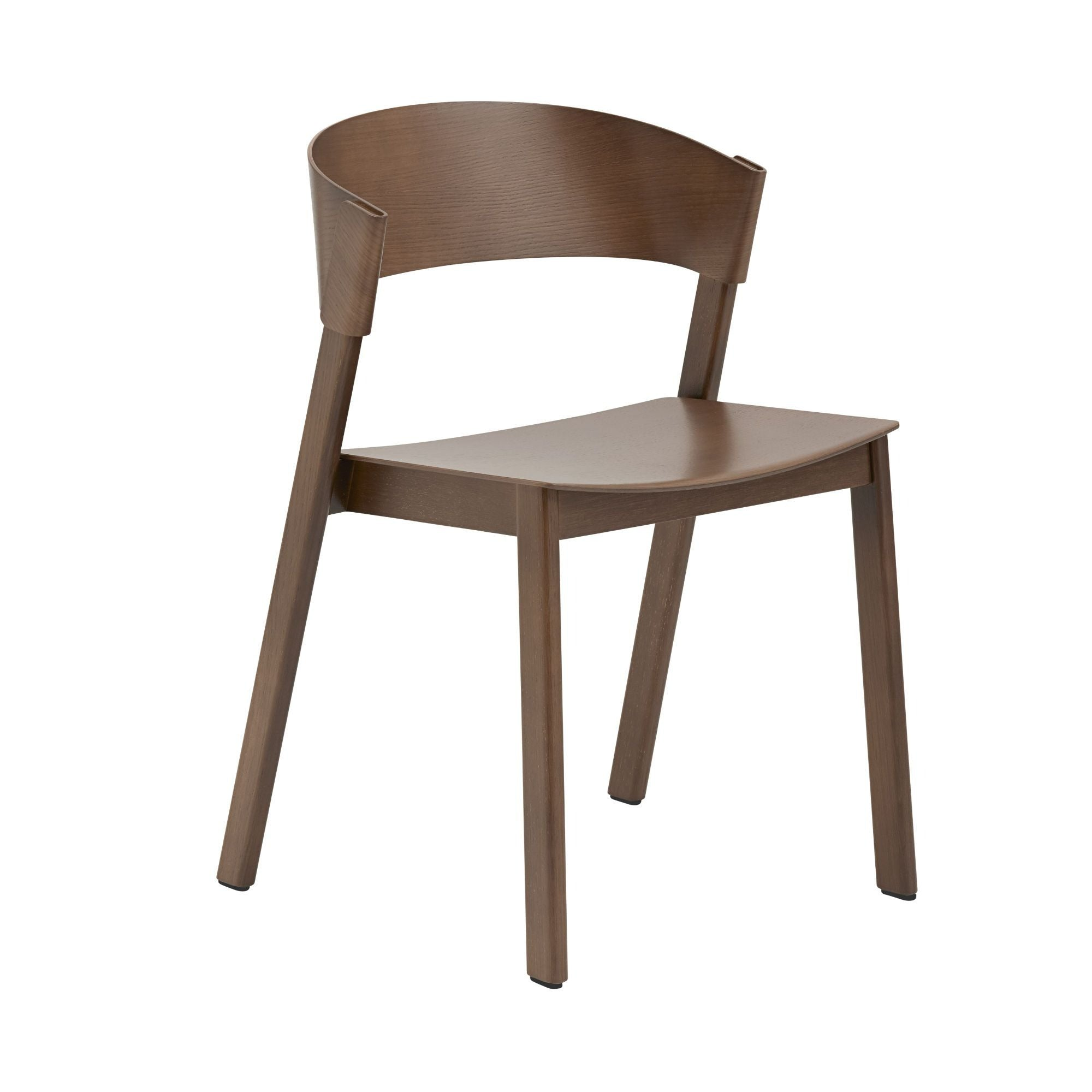 Muuto Cover side chair, stained dark brown