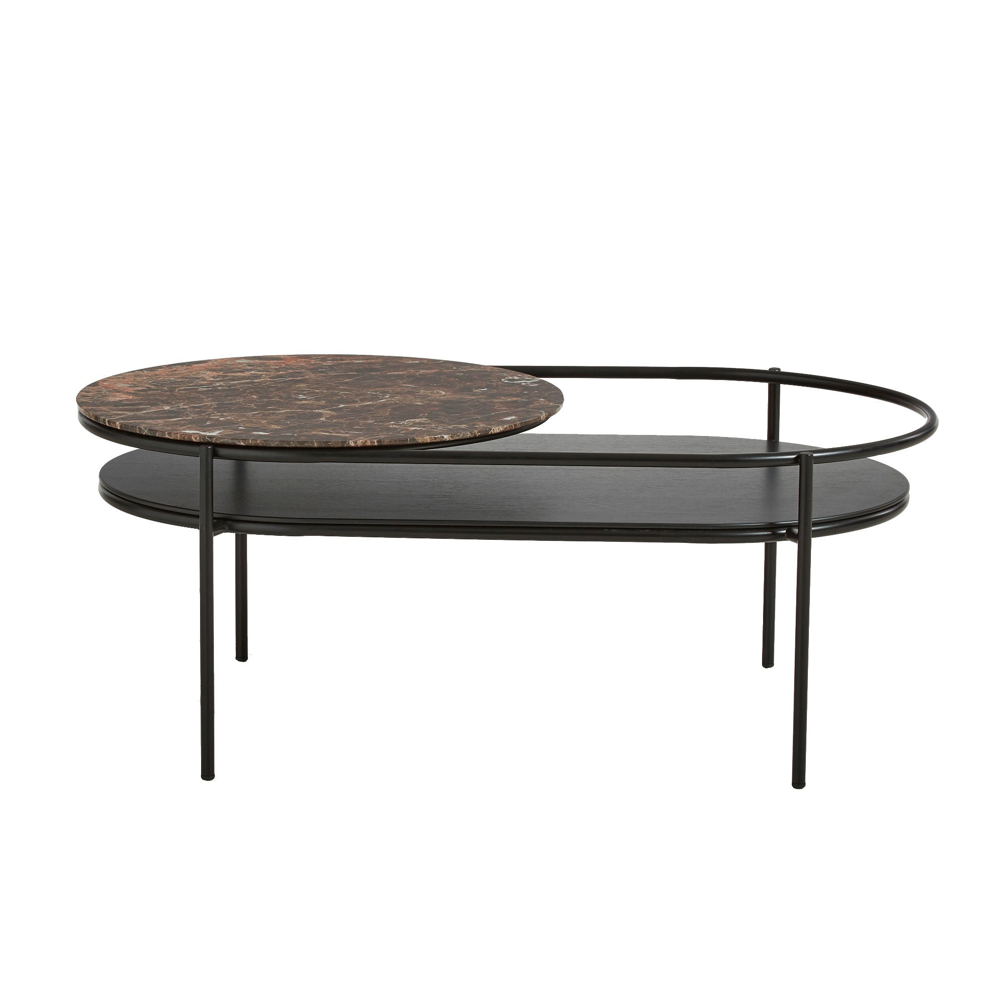 Woud Verde Coffee Table , Brown Marble
