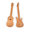 Kikkerland Beech Wood + Rockin Guitar Salad Servers