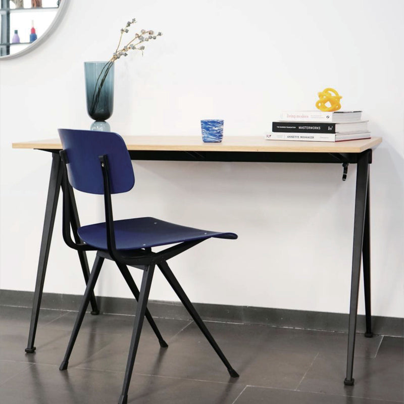 Hay Pyramid Desk 120x60 , Clear Lacquered Oak/Black