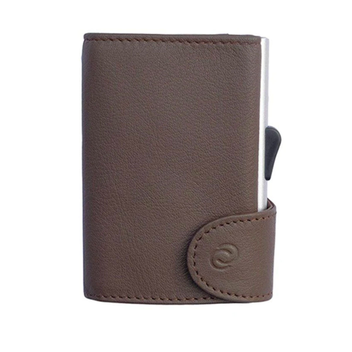 C-Secure Italian Leather RFID wallet, castagno