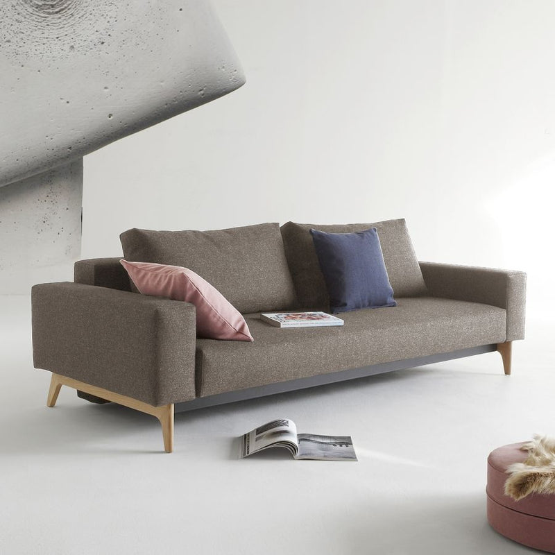 Innovation Living Idun Sofabed with Arms L238xD100cm 521 Mixed Dance Grey