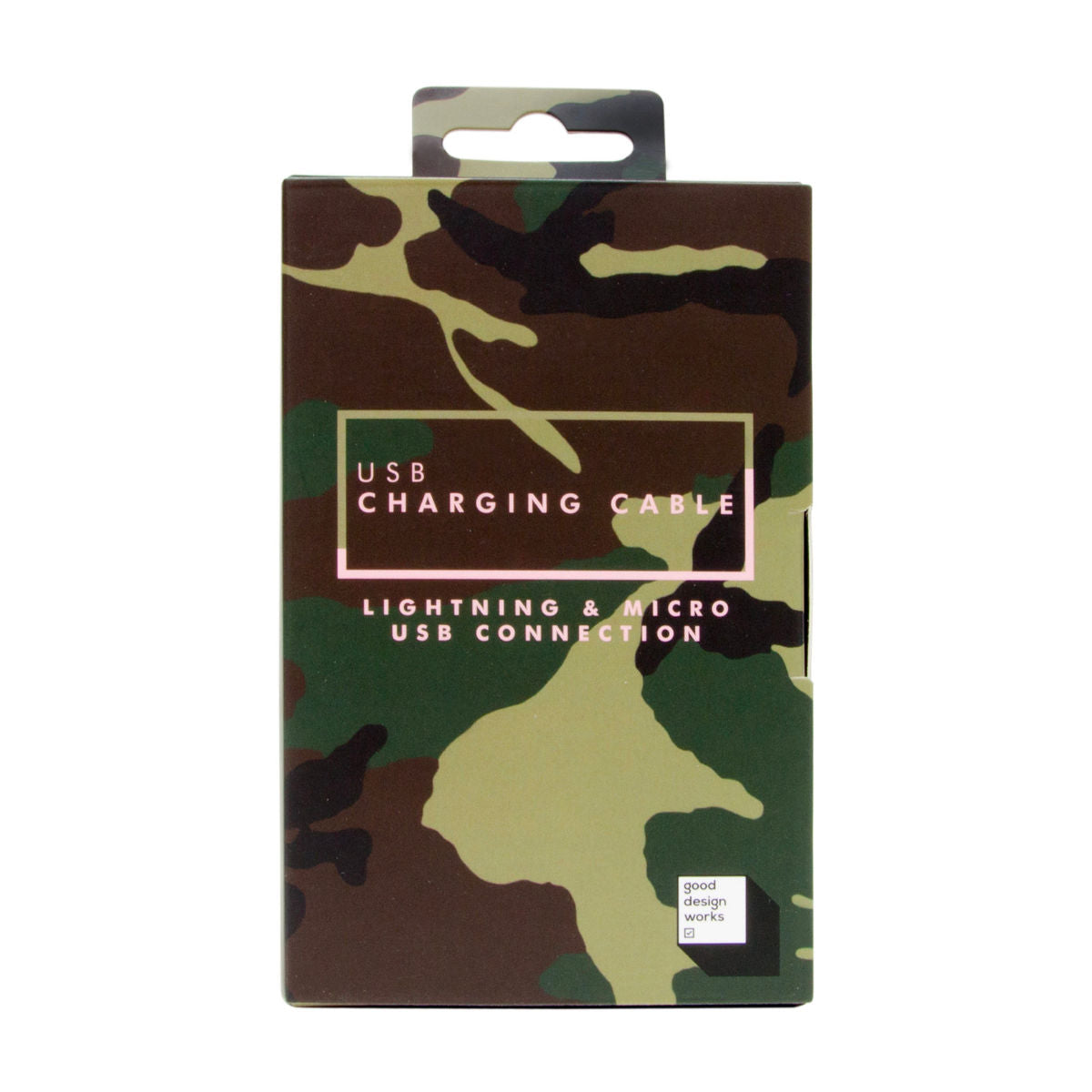 Suck UK 2-in-1 charging cable, camo, lightning for iPhone