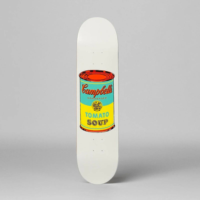 The Skateroom skateboard, Andy Warhol Colored Campbell's Soup yellow