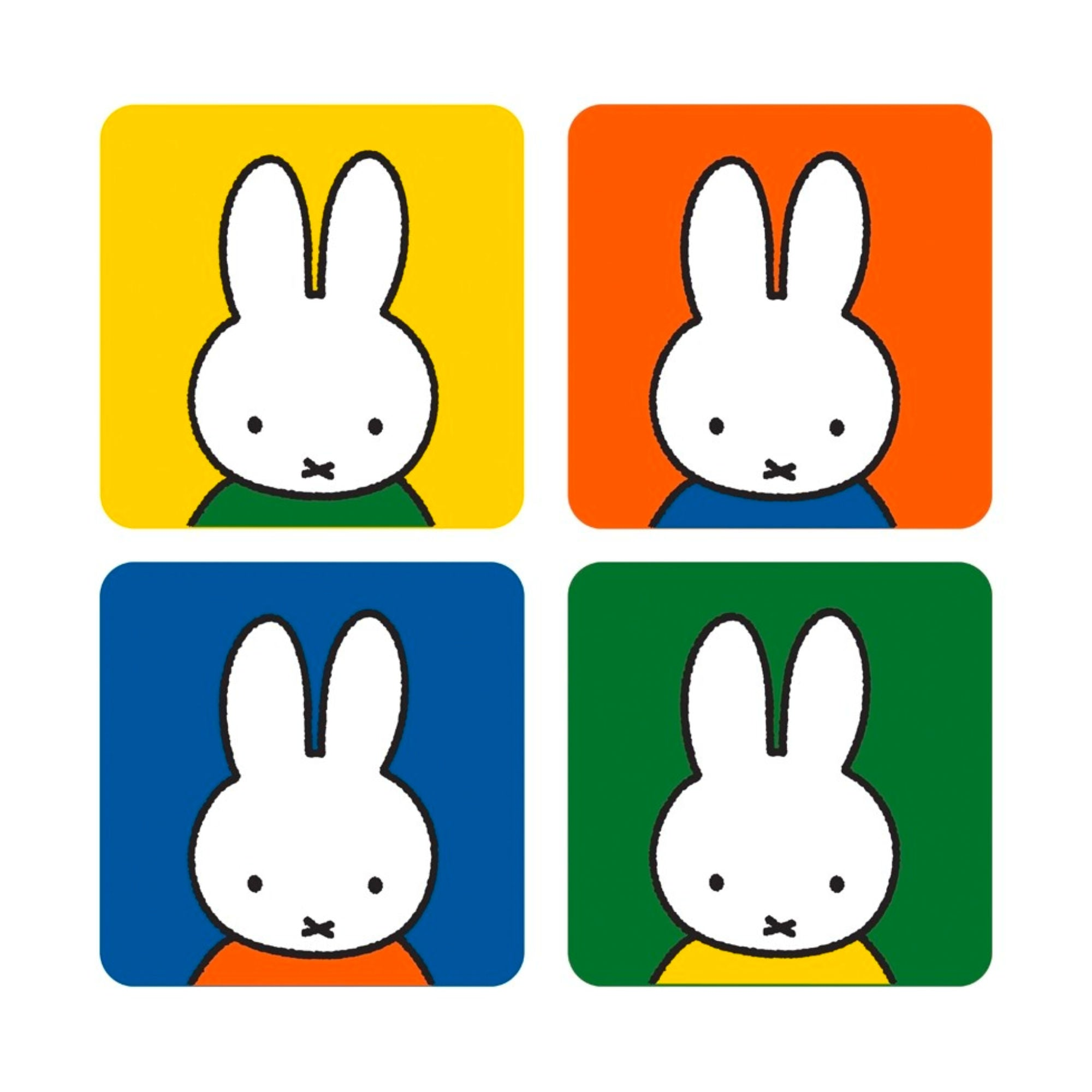 Miffy Head Shaped Coaster 4-Pack