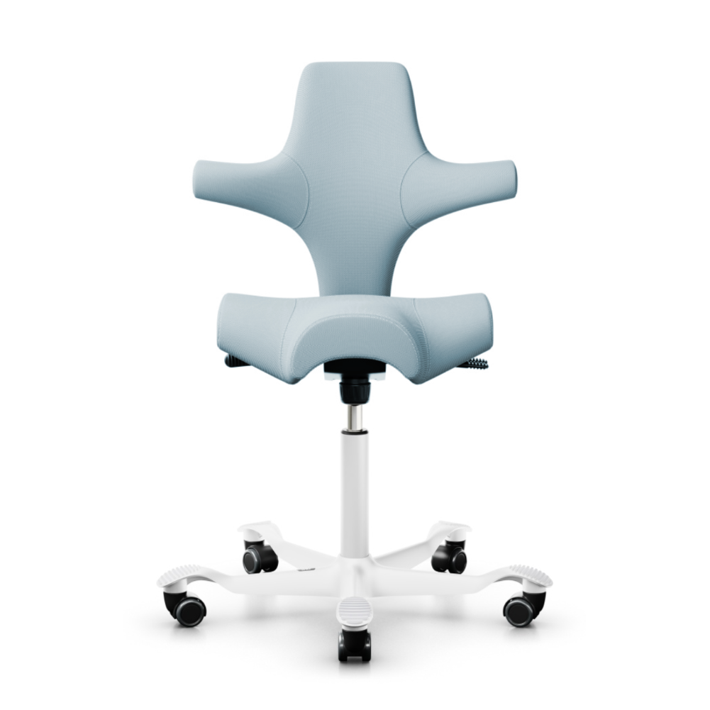 HAG Capisco 8106 ergonomic chair, fabric, steelcut trio713