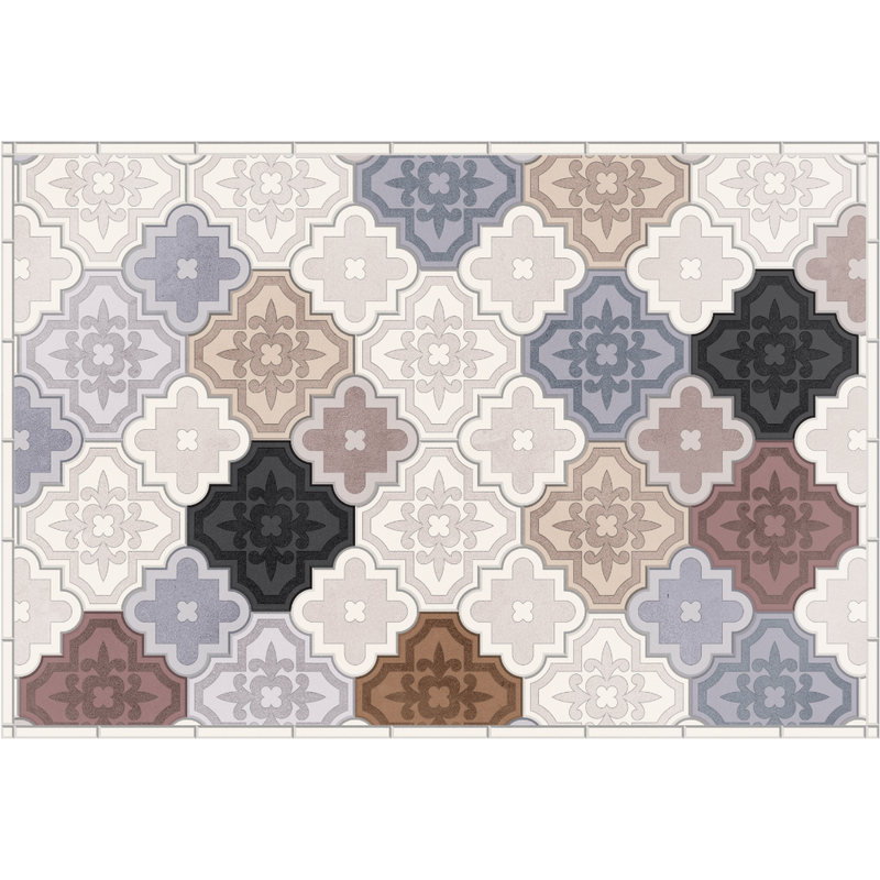 Podevache Vinyl Floor Mat Rectangle Carpet 49.5x83cm