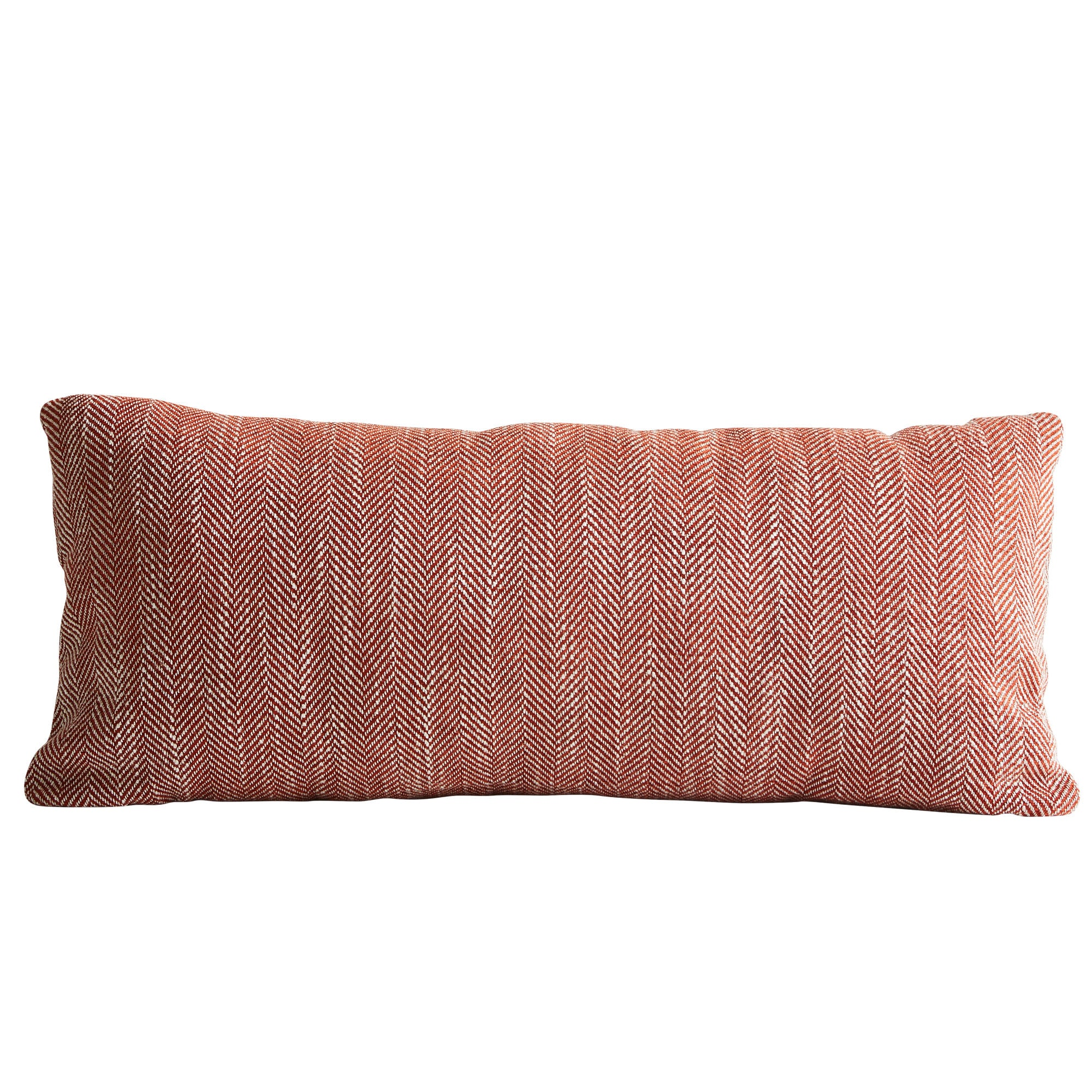 Woud Herrinbone Cushion , Carmine Red