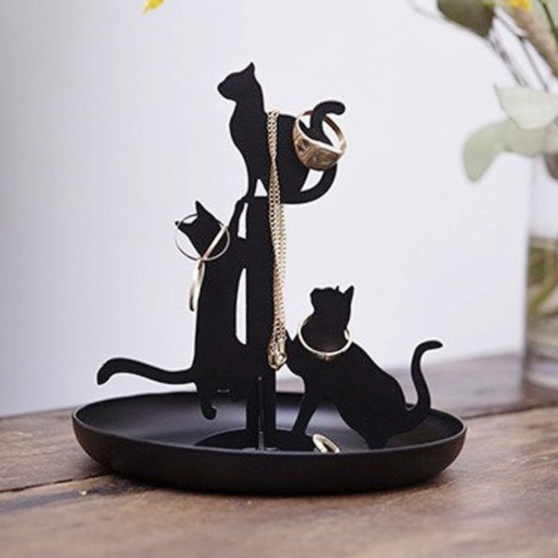 Kikkerland Cat Jewelry Stand