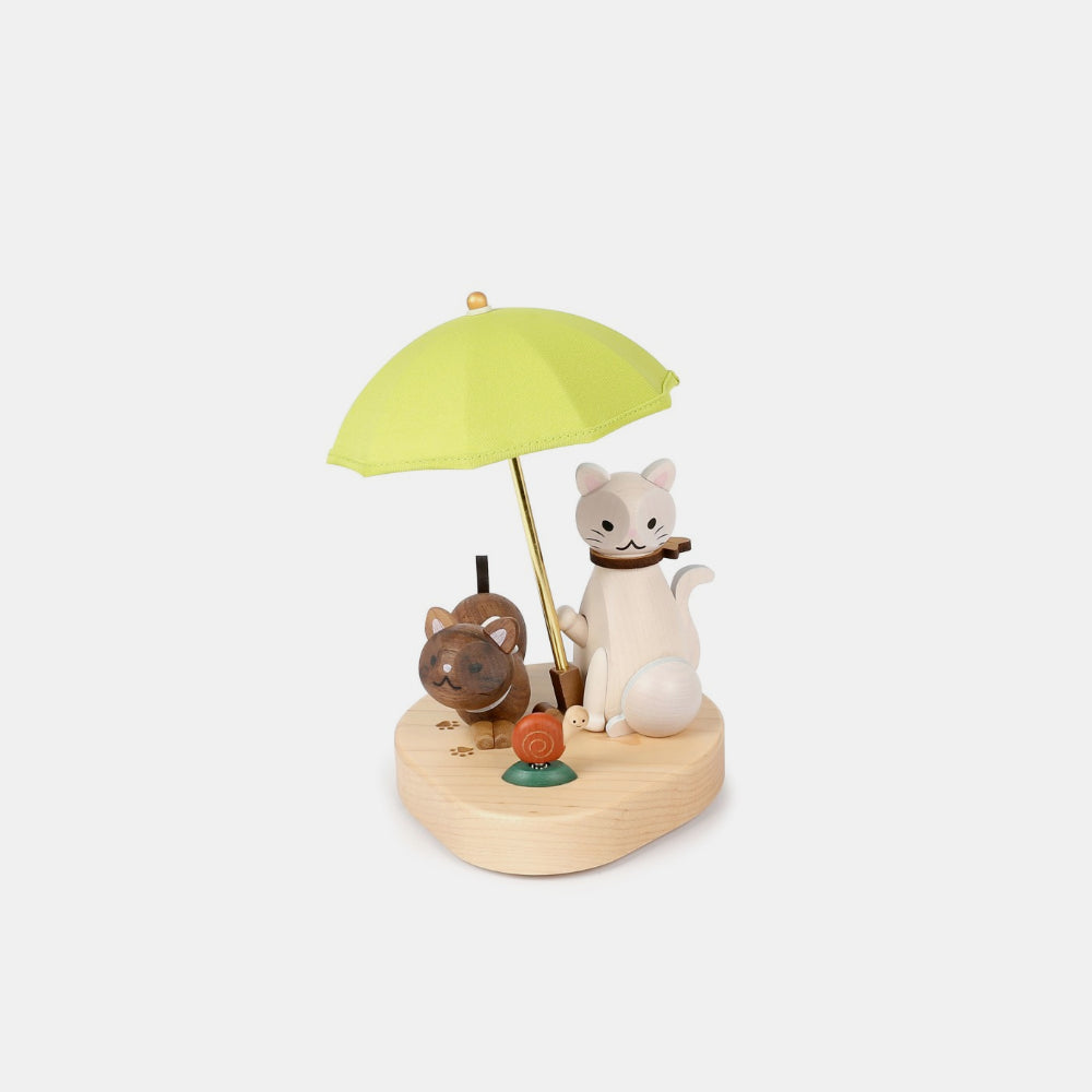 Wooderful Life Cat Umbrella Wooden Lamp