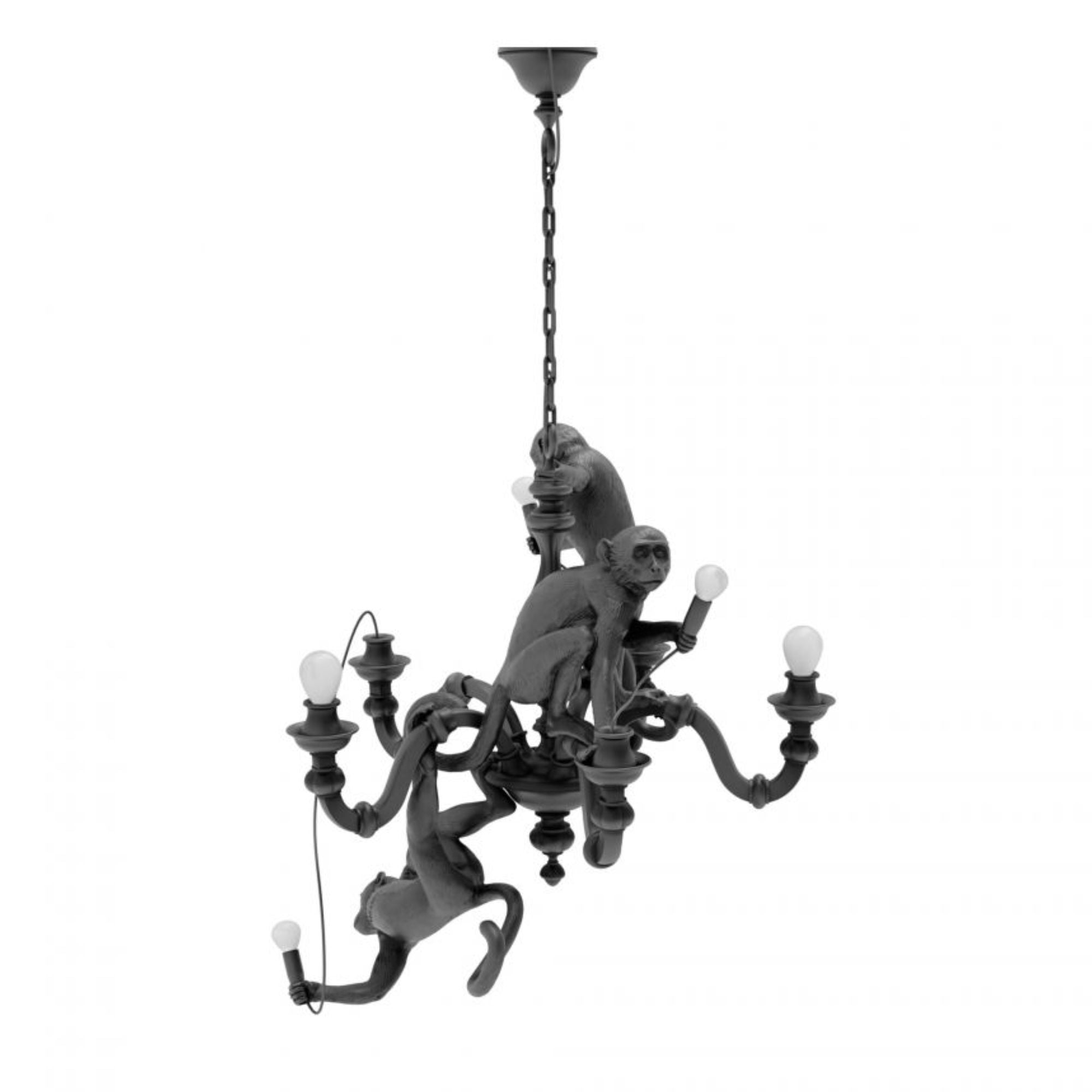 Seletti Monkey Chandelier, Black