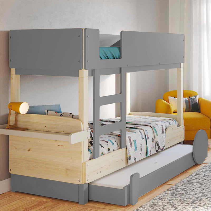 Mathy by Bols Discovery Bunk Bed w. Pull-out Bed , Cement Grey