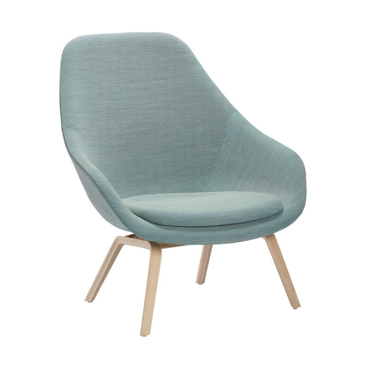 Hay AAL 93 About A Lounge chair, clear lacquered oak, steelcut trio 815