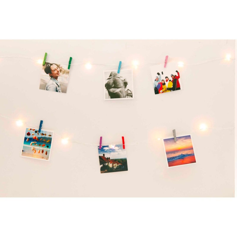 Kikkerland  Mini Clothespin String Lights