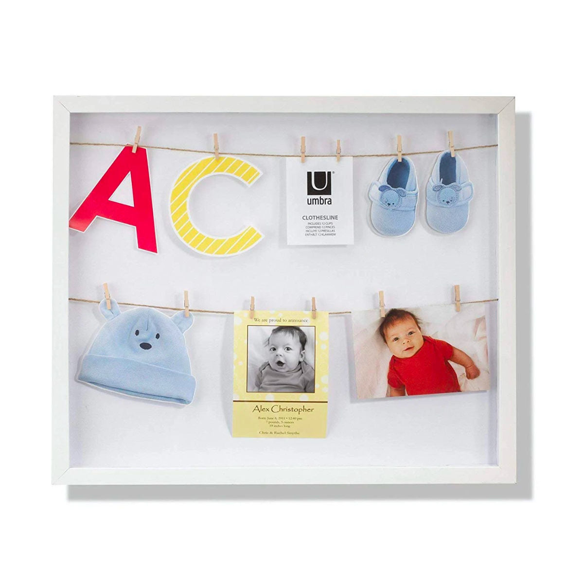 Umbra Clothesline Photo Frame, white