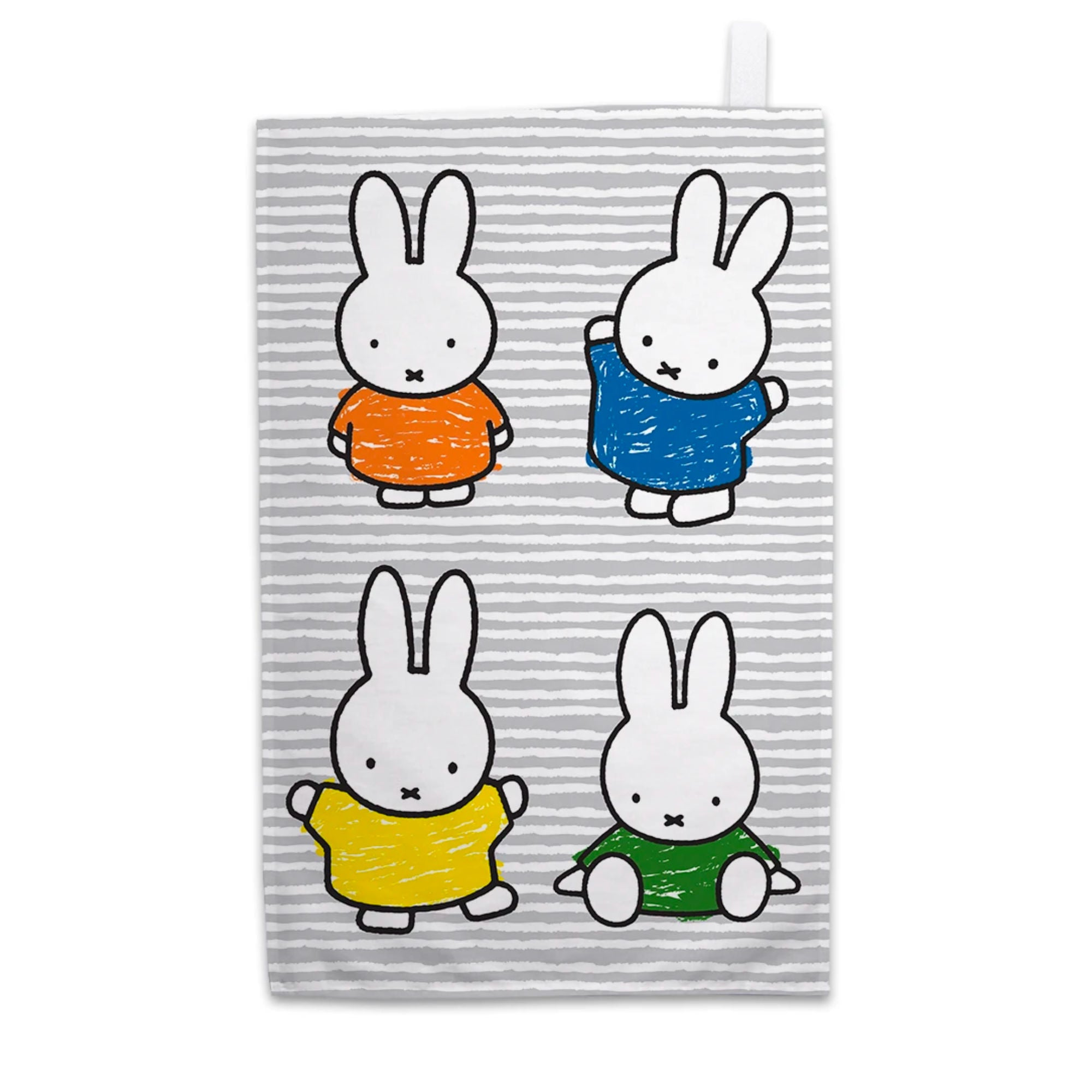 Miffy Tea Towel , Coloured Dresses